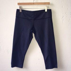 lululemon wonder under faux denim crop leggings